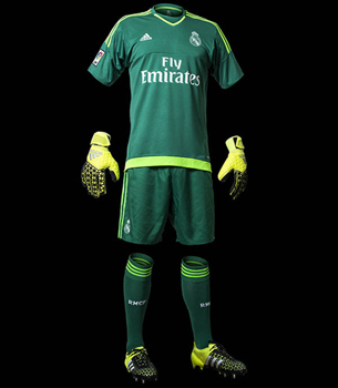 camiseta primera equipación portero Real Madrid 2015 2016