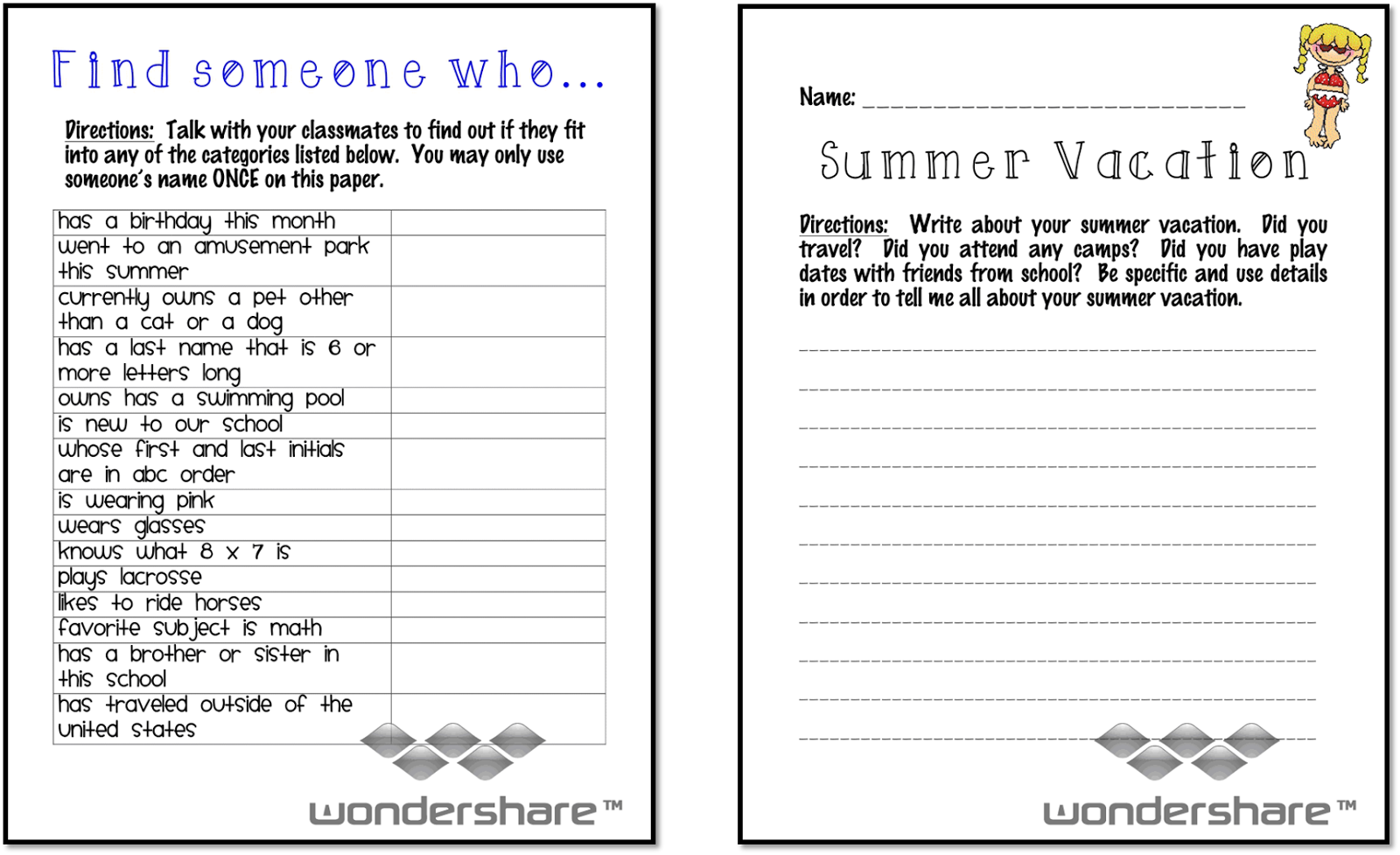School Worksheets For 3rd Grade : Ms third grade july