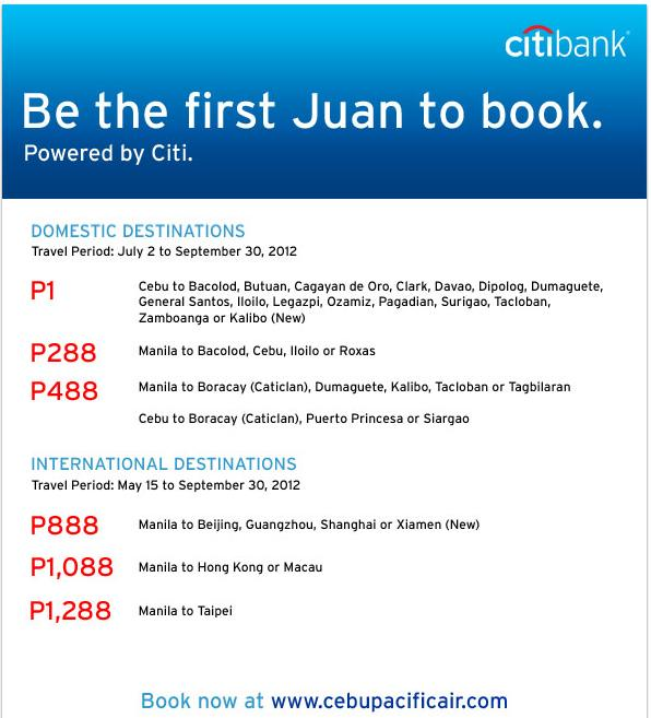 Piso Fare, Cebu Pacific Air Promo for Juan