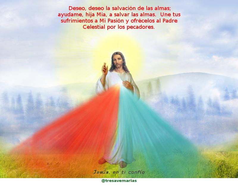 foto de jesus con mensaje de misericordia