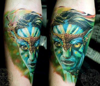 avatar movie free tattoo design on the leg