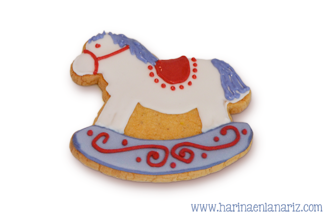 Galleta caballo decorada con glasa