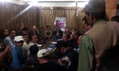 Mann Ghisingh addressing party meeting in Darjeeling
