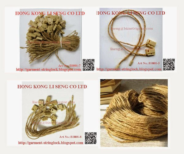 Garment Accessories - Hemp Rope Hang Tag String Lock Pin Manufacturer Wholesale and Supplier