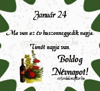Január 24, Timót névnap