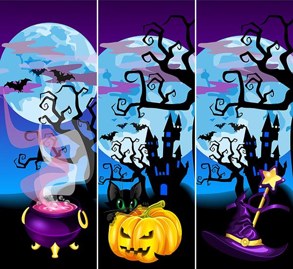escenas de halloween 2.0 - vector