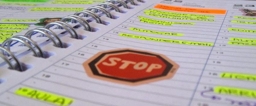 Organização de agenda semanal