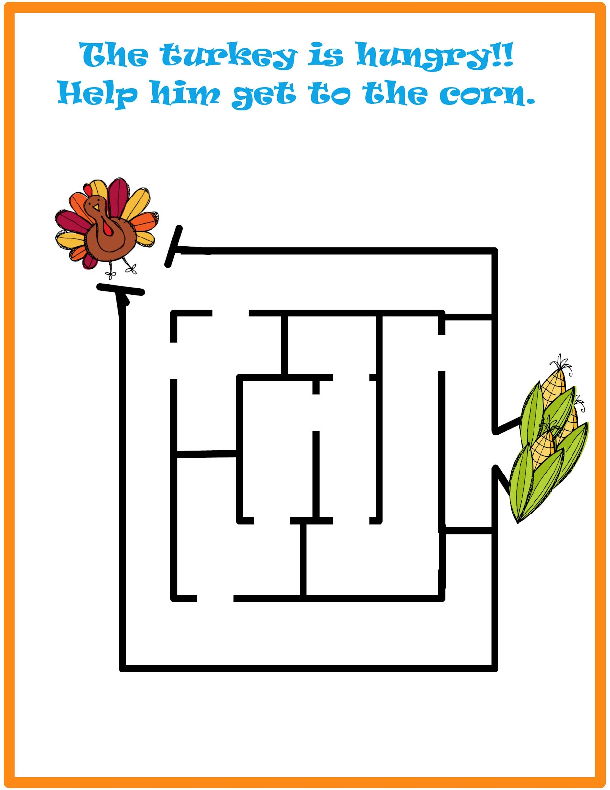 Uncategorized Thanksgiving Mazes 3 day freebie 2012 thanksgiving preschool packet packet