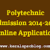 Polytechnic College Admission 2014 Online Application