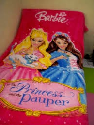 Jual Selimut New Seasons Blanket Barbie Princes Pauper