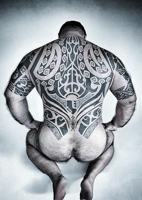 gay daddy tattoed men - tattoo bears