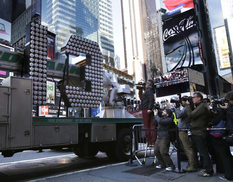Times Square ya está lista para dar la bienvenida al 2013