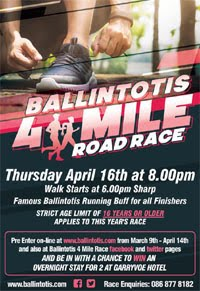 Big 4 mile race in E Cork - Thurs 16th Apr 2020