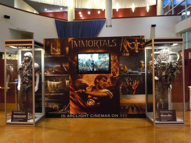 Immortals movie costume exhibit