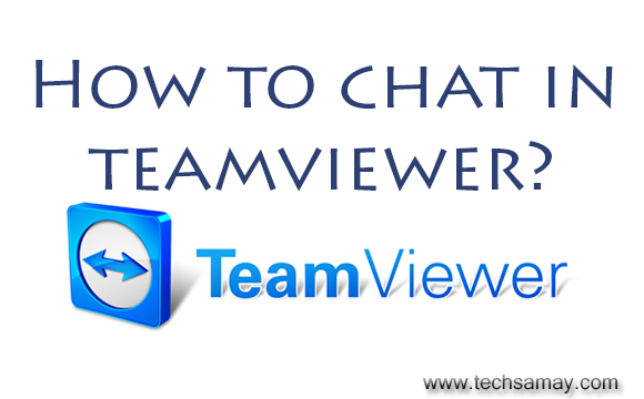 chat in teamviewer