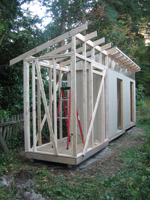 The Rat Hole: Shed - Part 11: Framing Walls and Rafters Unit 3