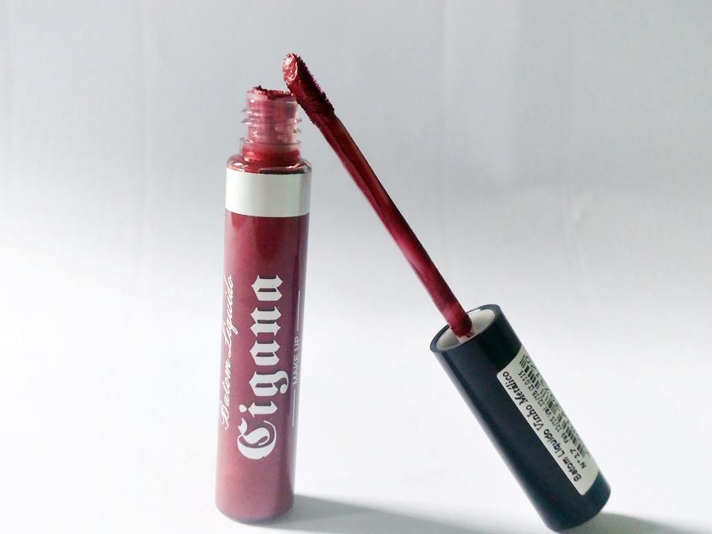Batom Líquido Matte Vinho Metálico n°17 - Cigana Cosméticos