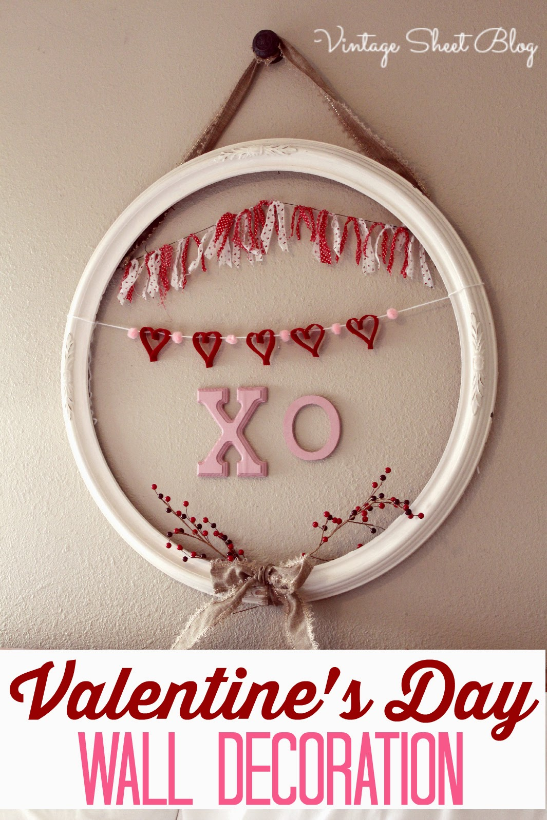 Vintage Sheet Blog- Valentine Wall Art-Treasure Hunt Thursday- From My Front Porch To Yours