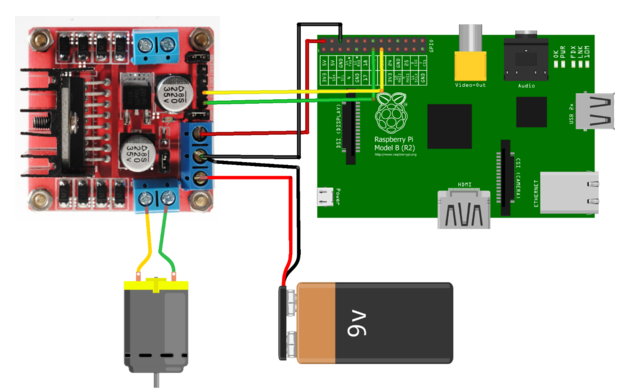 tech goodies raspberrypi to run dc motor using l298n