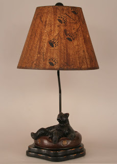 bear in innertube lamp