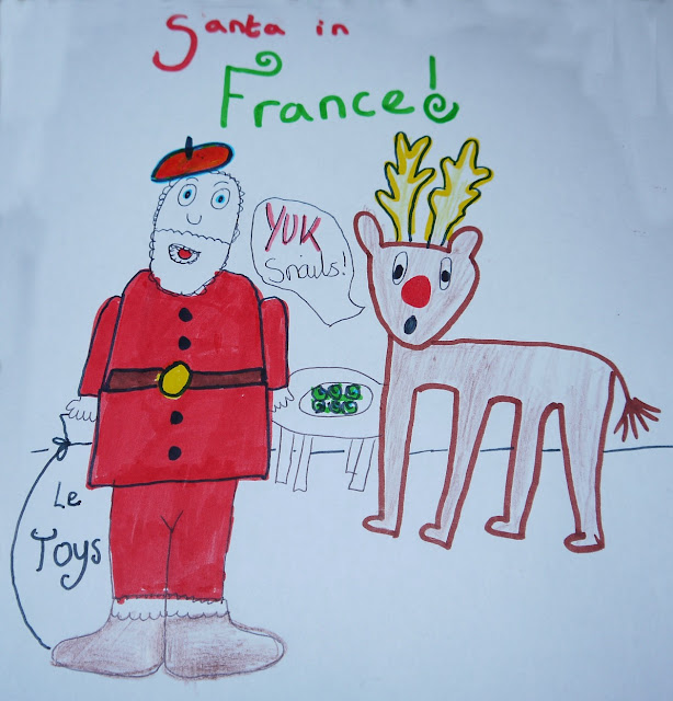 cards, France, Santa