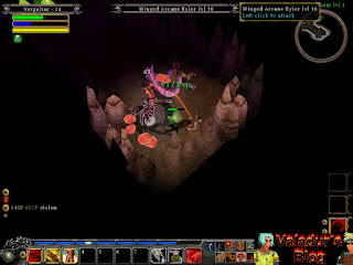 A screenshot of the combat in Din´s Curse.