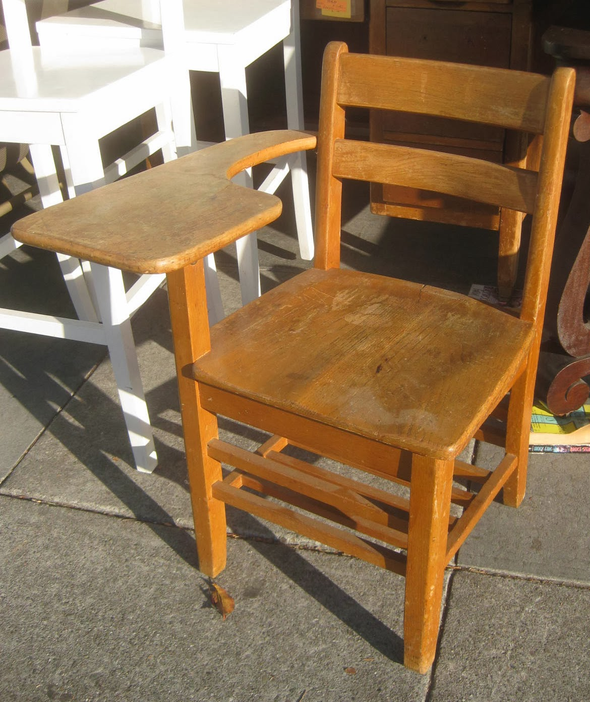 UHURU FURNITURE & COLLECTIBLES: SOLD Old School Desk Chair ...
