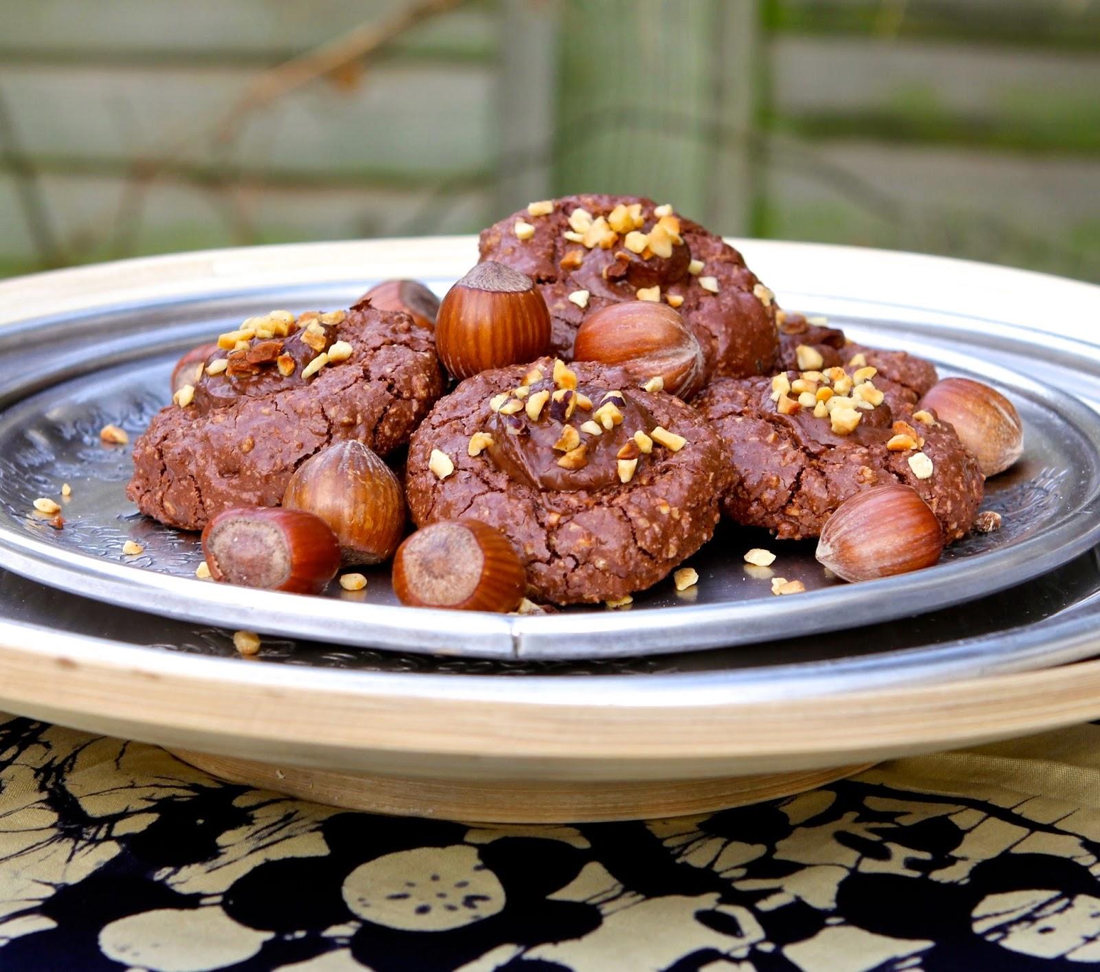 Hazelnut Chocolate Thumbprint Cookies Recipe — Dishmaps