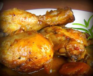 Pollo guisado bajo en grasa