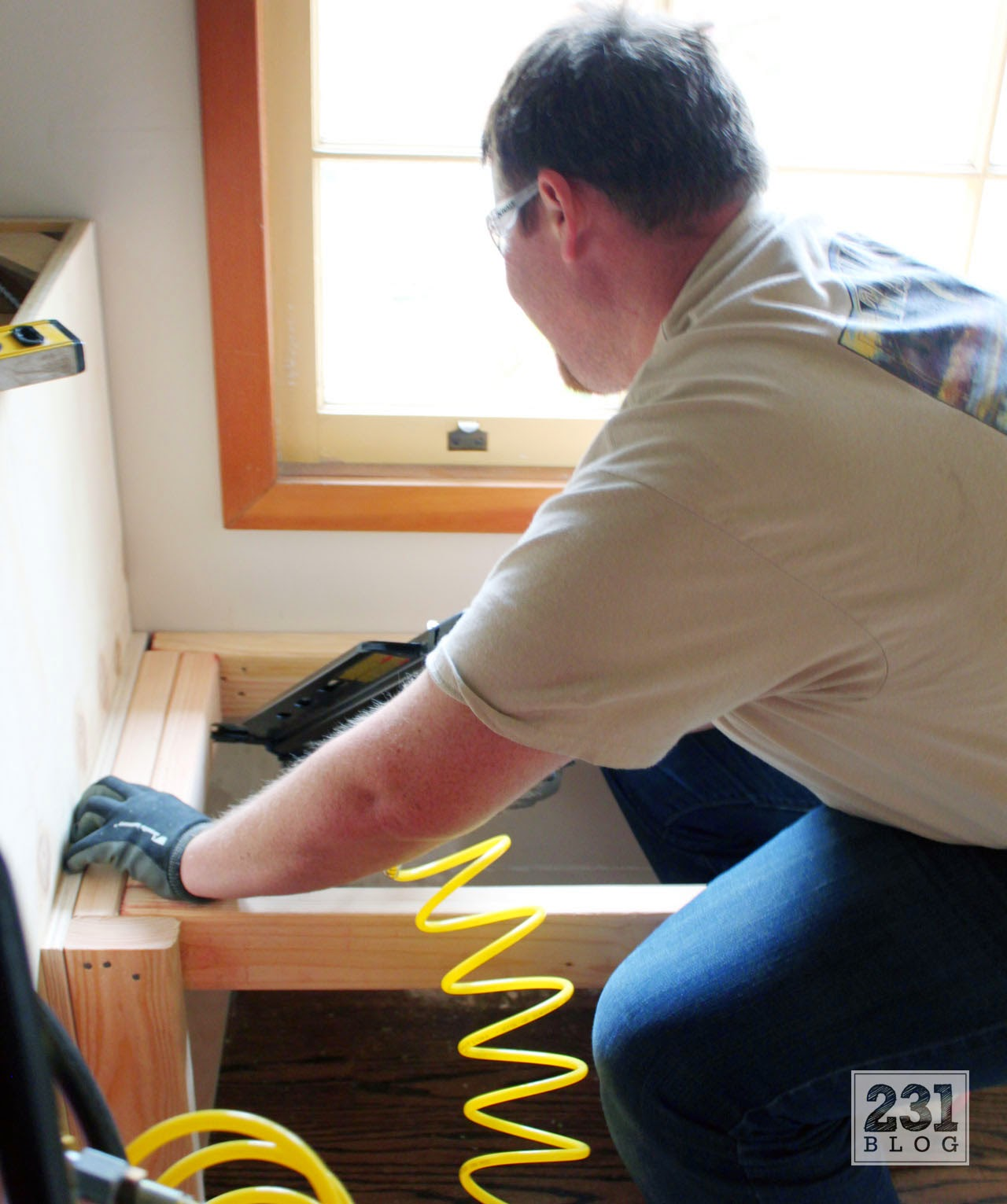 creating a diy window seat and built ins