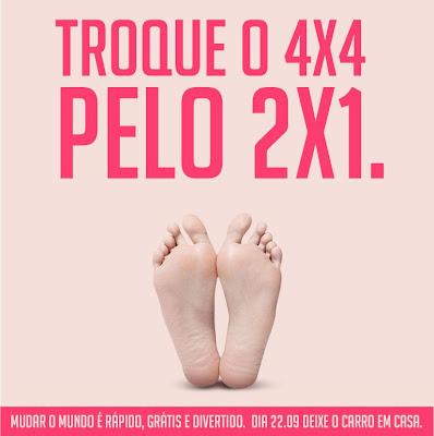 22 de setembro Dia Mundial Sem Carro - pés
