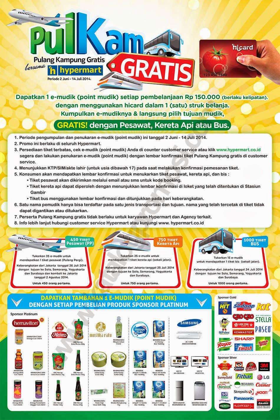 Info dan Cara Mudik Gratis 2014 dari Hypermart