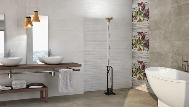 Ba os con azulejos decorativos colores en casa for Banos decorativos