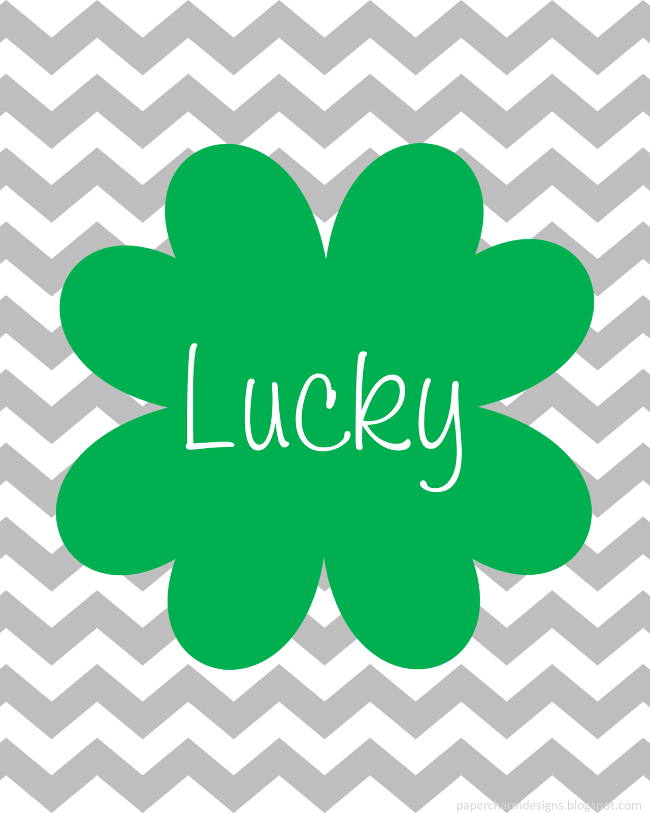 Lucky Shamrock Printable St. Patrick's Day Art by PaperCharm Designs