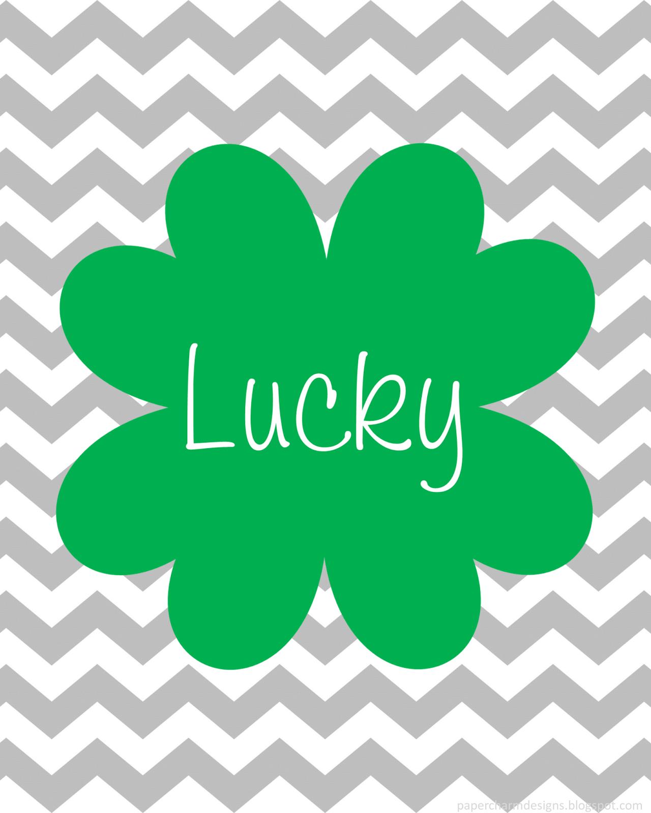 Lucky Shamrock Printable St. Patrick's Day Art @ PaperCharm Designs