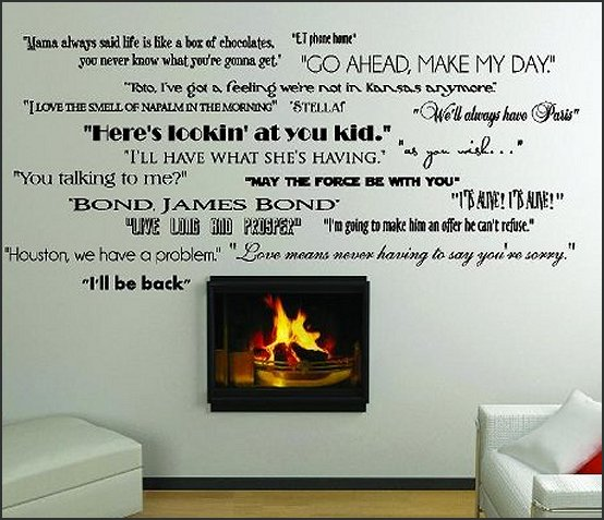 Classic Movie Quotes wall saying wall decals