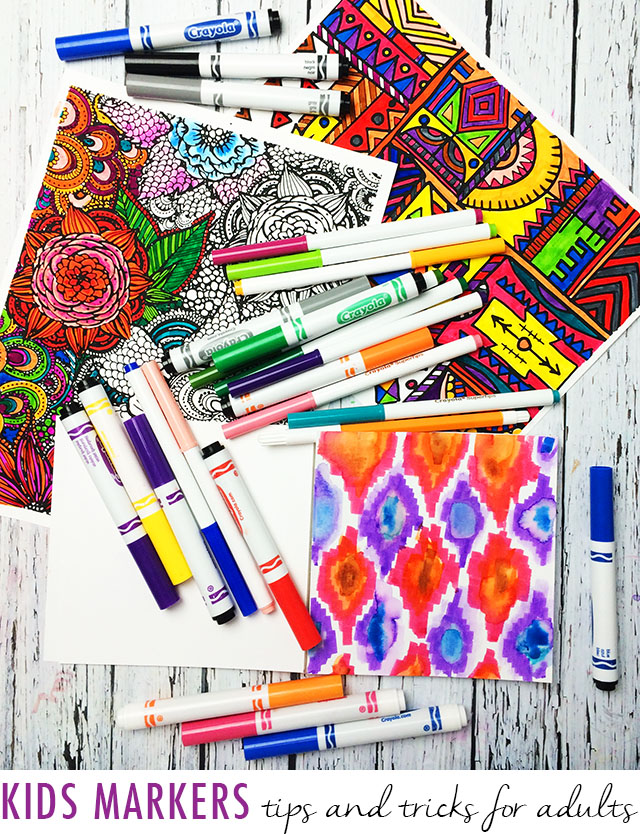 Crayola Airbrush Marker Pink Coloring Page   Alisaburke Kids Markers Tips And Tricks For Adults
