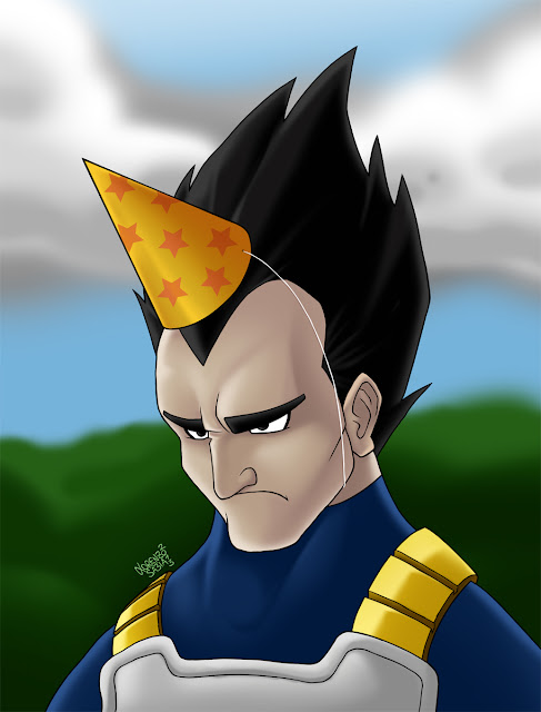 Vegeta from Dragonball by Lorenzo Sabia