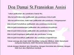 Doa Damai Santo Fransiskus Asisi