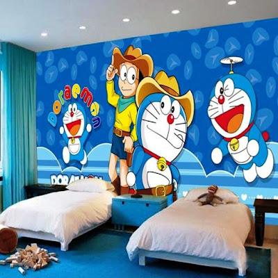 Wallpaper Gratis Dinding Kamar Tidur Anak Doraemon