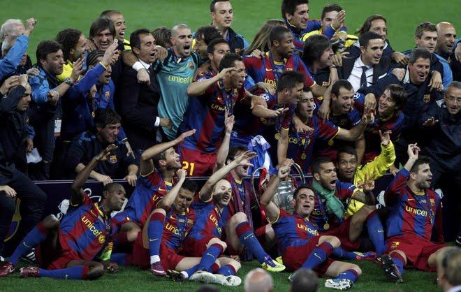 Barcelona Celebra su triunfo de la Champions League
