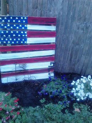 Flag Garden Art