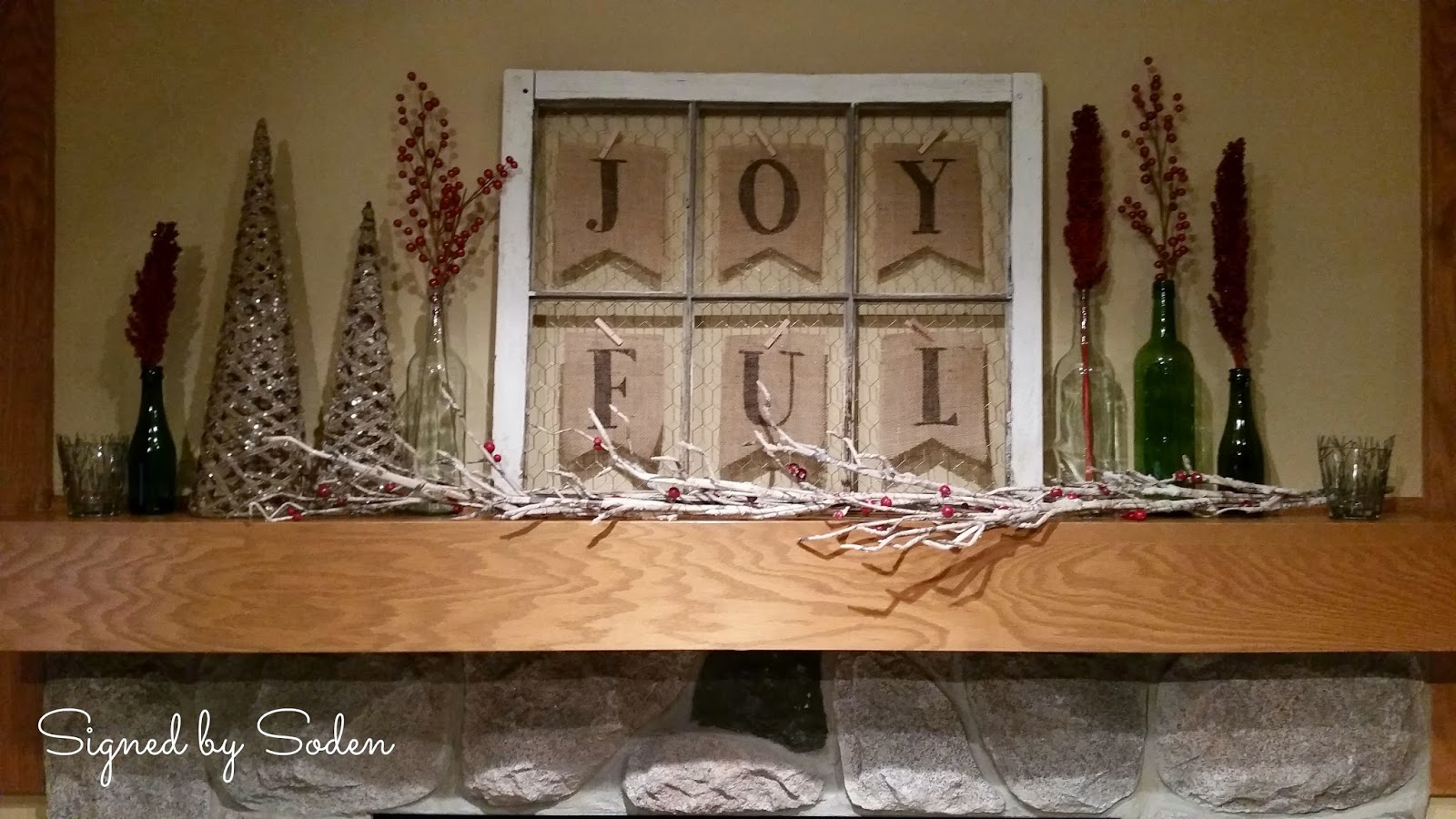 Christmas fireplace mantel decorations