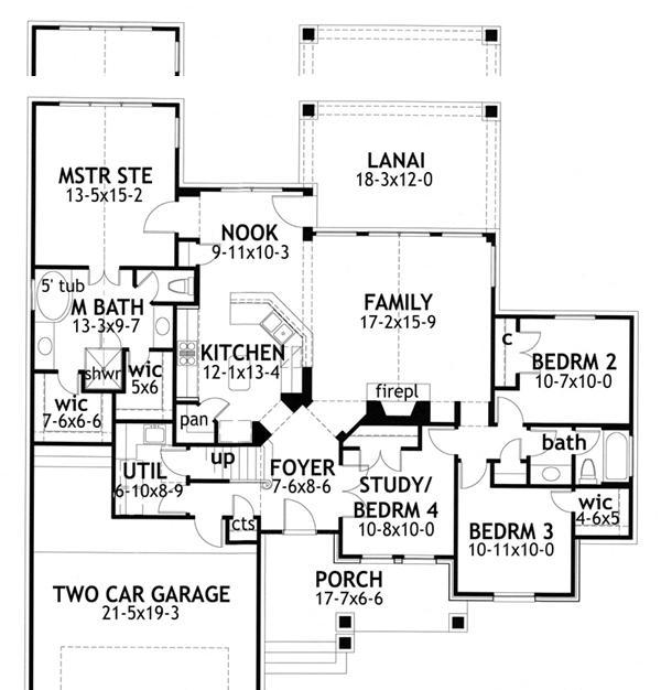 Planos casas modernas julio 2013 for Planos de casas de una planta 4 dormitorios