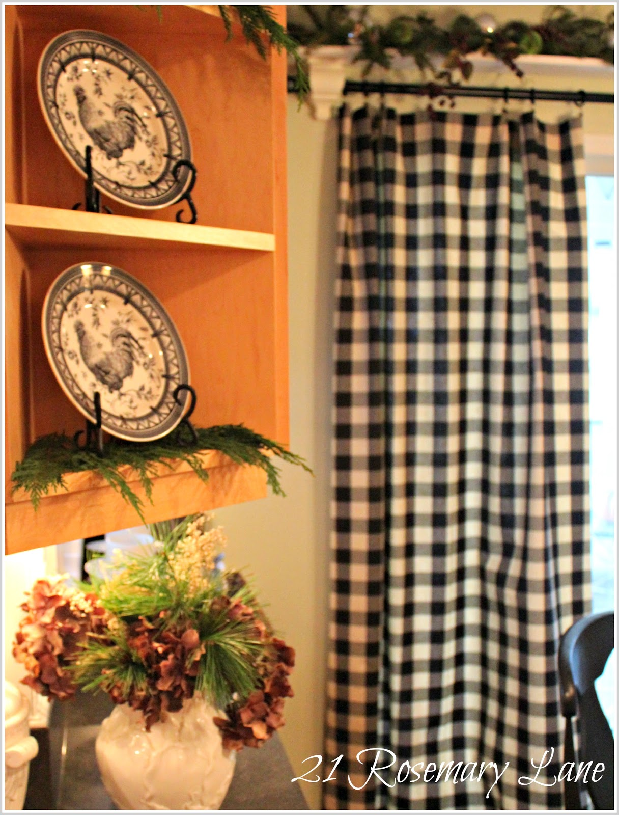 Black and white buffalo check curtains - 12 26 12