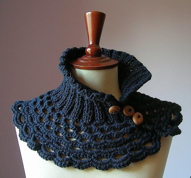 Artisanat Tejidos: Cuellos tejidos a palillo y crochet