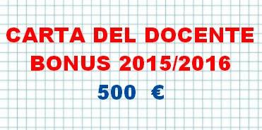 Carta del docente/bonus a.s.2015 - 2016