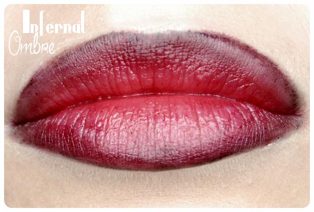 czerwone usta ombre wampire lips