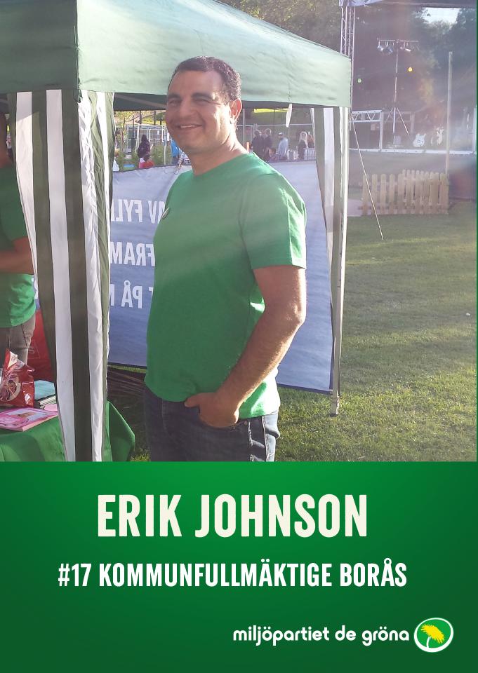 Fullmäktigekandidater - #17 Erik Johnson