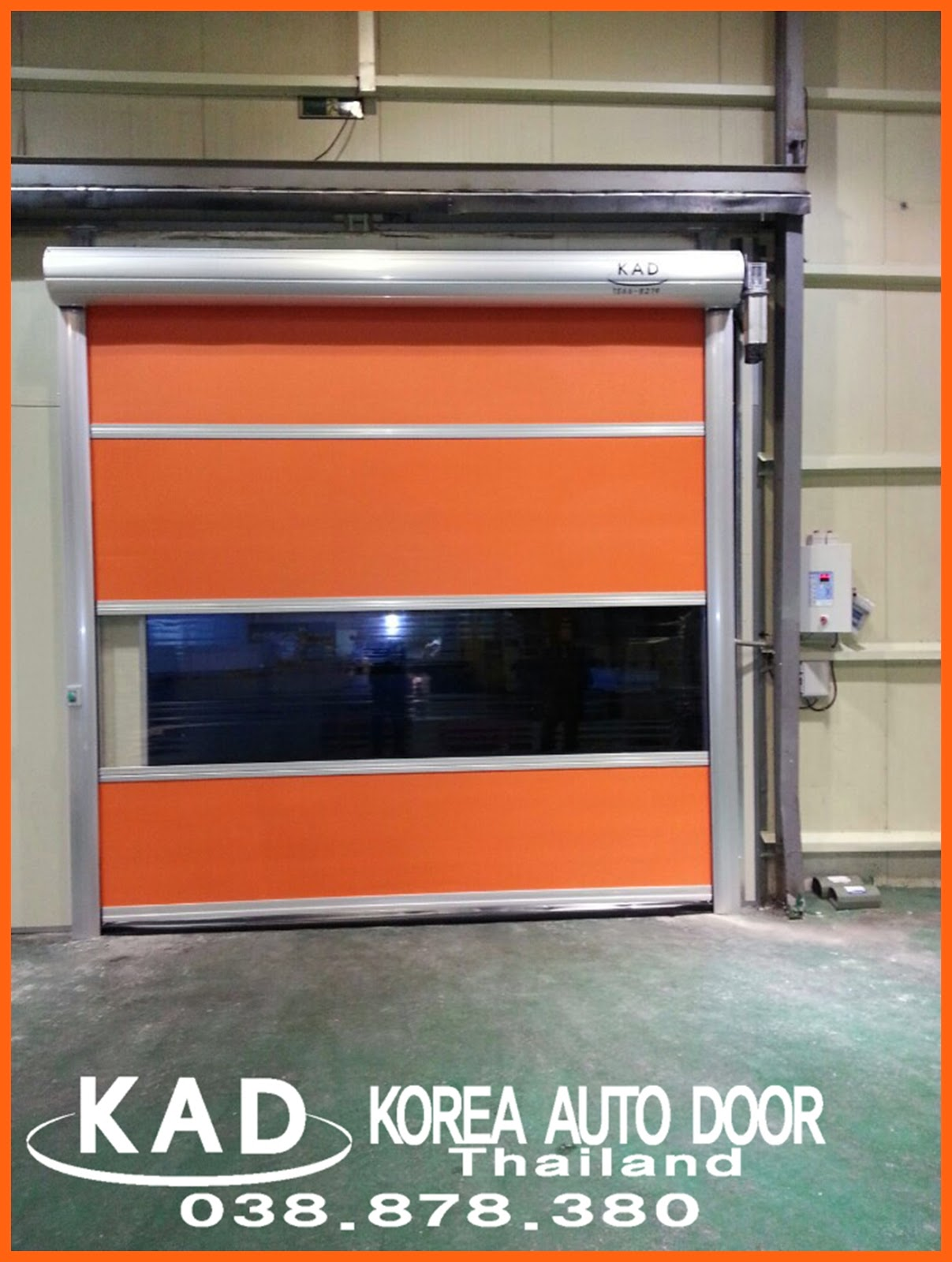 kad high speed door can install the manual chain